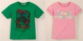 ユニクロのポケモンキッズTシャツ