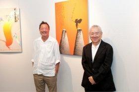 黒田征太郎氏(左)と長友啓典氏(右)
