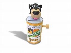 アクションが面白い「貯猿箱」(上)と「貯犬缶」(下)