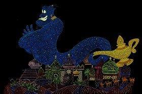 魔法のランプから「ジーニー」登場(C)Disney