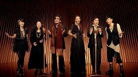 CMに出演する鈴木雅之さん(左から3人目)ら「コーラスジャパン」