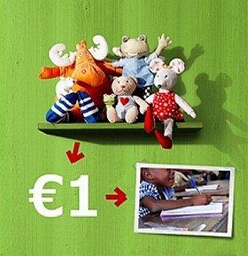 1ユーロが子どもたちの教育に