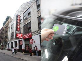 街の一般駐車場内に数台ずつ駐車。会員カードをかざすと、予約した車のドアの鍵が解除される
