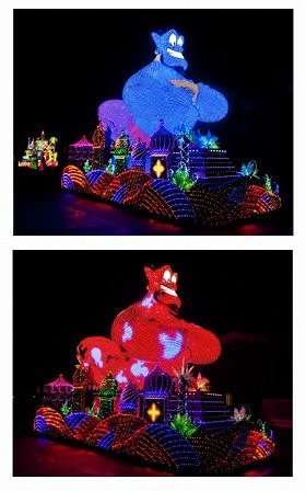 ジーニーがミッキーの模様に!(C)Disney