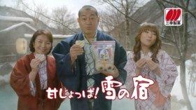 CMに出演する原日出子さん、松平健さん、はるな愛さん(左から)