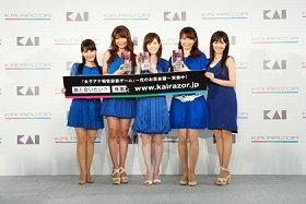 会見に出席した5人の美人女子アナ(中央が杉崎美香さん)