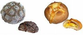 左から『とろける板チョコメロンパン』、『とろけるチーズクリームフランス』