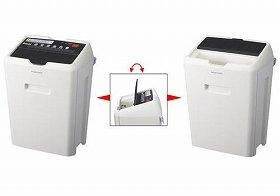 シュレッダー使用時(左)と、ゴミ箱使用時(右)