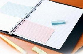 ノートに追記したり、付箋の代わりに使用したりできる(写真は、「書きやすいルーズリーフ ミニ」)