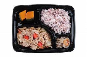 「豚肉と野菜のさっぱり炒め弁当」(530円、367kcal、食塩相当量2.8g)