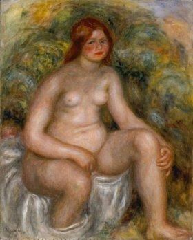 ピエール=オーギュスト・ルノワール「すわる水浴の女」 1914年