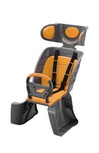 より安全・安心な樹脂製リヤチャイルドシート(写真は、グレー&オレンジ)