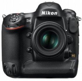 デジタル一眼レフカメラ「ニコン D4」 AF-S NIKKOR 50mm f/1.4G 装着時