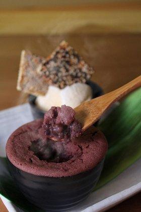 「小豆フォンダン~バニラアイスと二種クラッカー添え~」