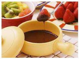 とちおとめ、チョコレート、レシピをプレゼント