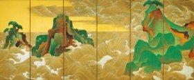 「松島図屏風」尾形光琳筆、江戸時代・18世紀前半、ボストン美術館蔵