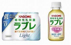 左「植物性乳酸菌ラブレ Light」 右「植物性乳酸菌ラブレ 食物繊維プラス」