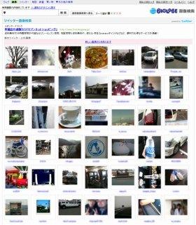 ツイッター画像検索結果ページ