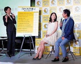 「睡眠改善委員会」のイベントでトークショーに参加した石田純一・東尾理子夫妻(3日、都内で)