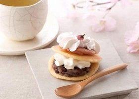 春らしい「スプーンで食べる桜の生どら焼き」