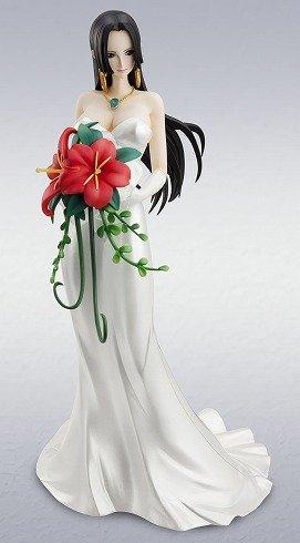 純白のウェディングドレス・・・妄想シーンの姿です。(C)尾田栄一郎/集英社・フジテレビ・東映アニメーション