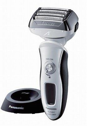 新開発の「くせヒゲリフト刃」で、あごの下の寝たヒゲもすくい上げて剃る(写真は「ES‐SV61」)