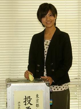 渋谷区役所で「選挙デビュー」を果たした宮澤佐江さん