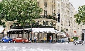 写真は、「新緑のカフェ・ド・フロール」(C)Tamamura Toyoo