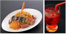 左は「シャアザクライス」(890円)、右はオリジナルカクテルの「キャスバル」/(C)創通・サンライズ