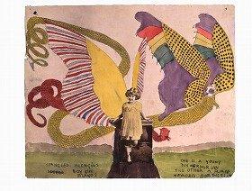 「キラキラ輝くブレンゲン。ボイ・キング・アイランズ。一匹は年若いタスカホリアン、もう一匹は人の頭をしたドロテリアン」 Collection of Kiyoko Lerner (C)Kiyoko Lerner,2011