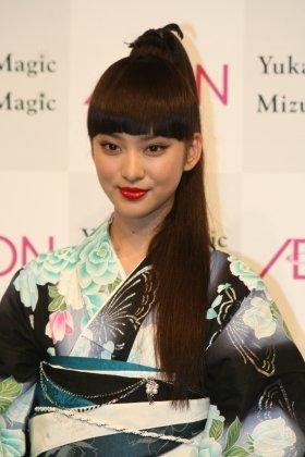 「Yukata Magic」キャンペーンキャラクターの武井咲さん(17)