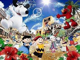 「ハッピー・サプライズ・サマー」(C)'11 Peanuts (C)2011 Sesame Workshop. (C)'76, '99, '11 SANRIO  APPROVAL NO. EJ1041901(C)& (R) Universal Studios.