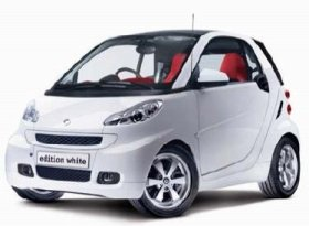 「smart fortwo edition white coupe mhd」