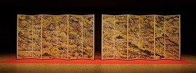 『東京国立博物館創立140周年記念「洛中洛外図屏風(舟木本)」高品位複製』 Copyright 2012 TOPPAN PRINTING CO., LTD.