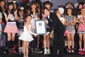JSを代表して谷花音ちゃんがギネス世界記録認定証を授与された