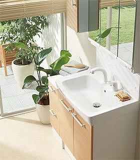 狭小の洗面空間のリフォームに最適なスタンダードな化粧台