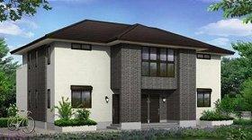 「戸建感覚」のデザインが街並みに調和する賃貸住宅(外観図)
