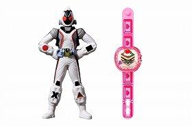 注目の「仮面ライダーフォーゼ」のおもちゃ。右は「スイーツウオッチ」