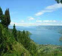 マンデリンの生産地として有名なトバ湖
