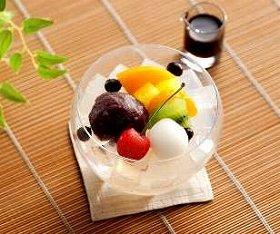 写真は、「山形県産佐藤錦のフルーツあんみつ」