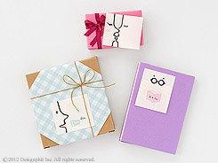 プレゼントと共にメッセージカードとしても