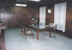 マッカーサーの執務室となった社長室。現、マッカーサー記念室。
