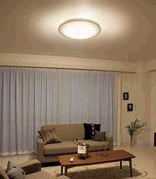 生活シーンにあわせて明るさも調節できる(写真は、14畳までの「広がりモード」)