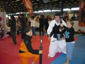 子どもたちも武道を体験