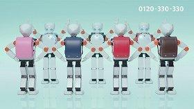 ロボットがリズムよく踊る