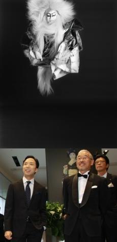 春興鏡獅子 獅子の精(C)Seishi Nagatsuka/8日、会場を訪れた猿之助さんと長塚さん