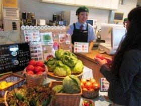 店舗での生野菜販売イメージ