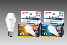 断熱材や遮音材を天井に敷きつめる埋込み型の照明器具にも対応できる(写真は、左から電球色「LDA6L‐G‐E17/S」、昼白色「LDA6N‐G‐E17/S」)