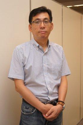 インタビューに答えた崔鍾玖・WeMade Online代表取締役社長。9月20日撮影