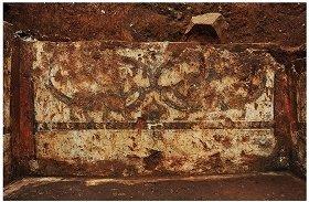 高山洞1号墳奥室北壁 四神図「玄武」